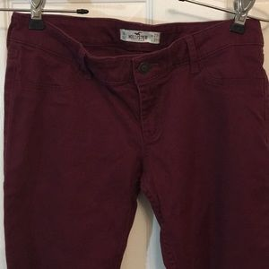 Burgundy pants. Perfect for fall!